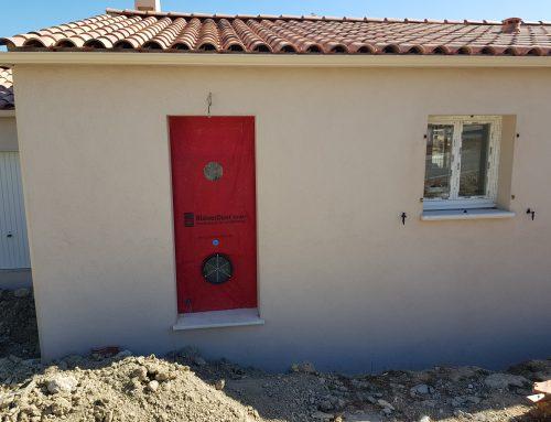 Test d'étanchéité à l'air d'une maison individuelle sur Aix en Provence (13)