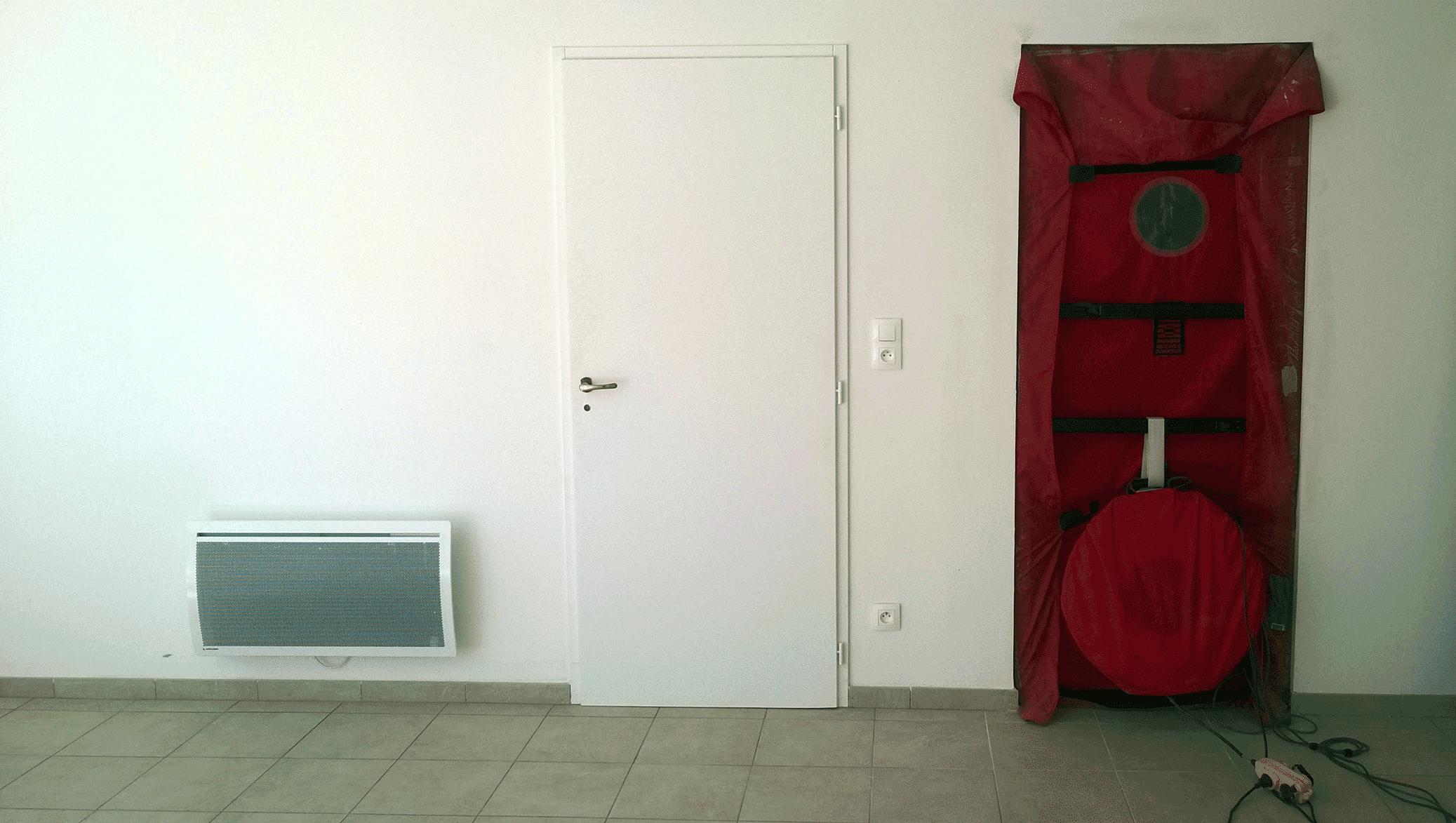 Test d'étanchéité à l'air logement collectif